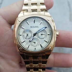 New Mens Bulova Stainless Steel